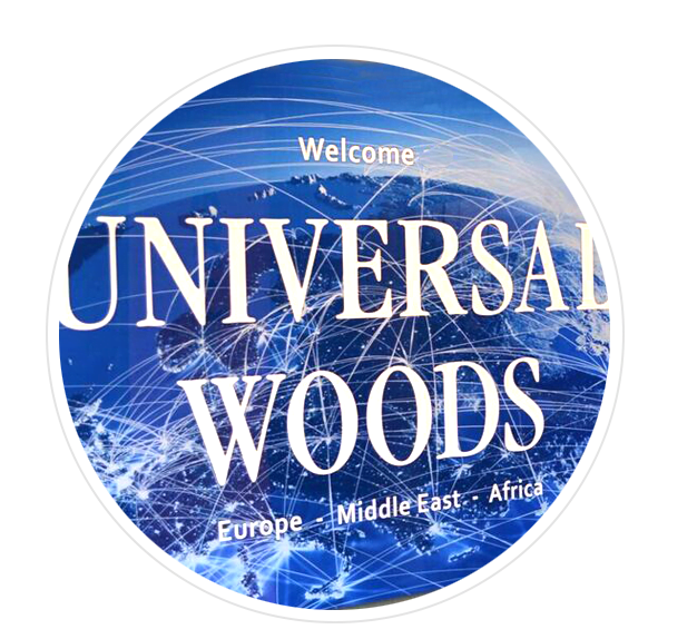 Photo of the Welcome sign at Universal Woods EMEA